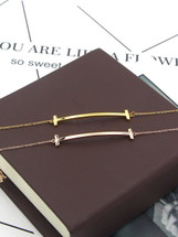 Minimilist Bar Bracelet: Gold, Silver Or Rose