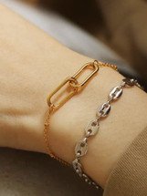 Two Links Delicate Bracelet