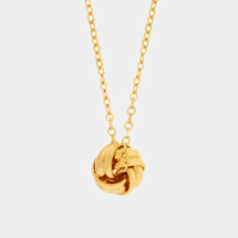 Delicate Love Knot Necklace