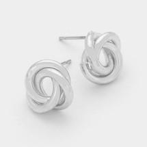 Metal Love Knot Stud Earrings