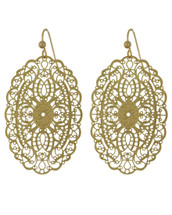 Vintage Inspired Filigree Earrings: Gold Or Silver