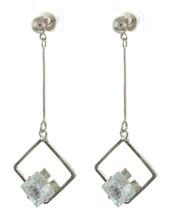 Crystal Drop Earrings: Gold Or Silver