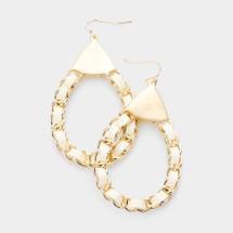 Ivory Chain Link Earrings
