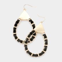 Black Chain Link Earrings