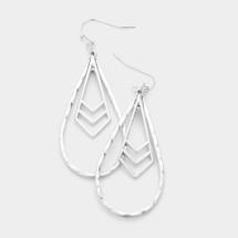 Geo Metal Dangle Earrings: Gold Or Silver
