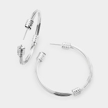 Wired Hoop Earrings: Gold Or Silver