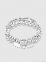 Metal Ball Locks Bracelet Set: Gold OR Silver