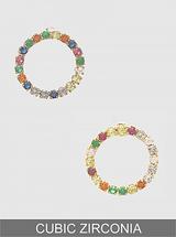 Colorful Crystal Delicate Circle Stud Earrings: LAST FEW!