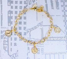 Triple Initial Bracelet