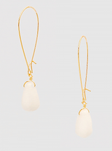 Wired Natural Stone Earrings: White