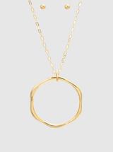 Hexagon Pendant Necklace: Gold Or Silver