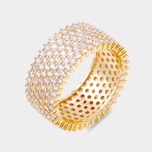 Micro Pave Embellished Ring: Gold
