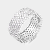 Micro Pave Embellished Ring: Silver