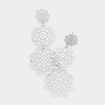 Teired Filigree Earrings: Gold Or Silver