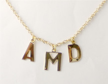 Three Initial Alphabet Necklace