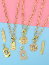 Options Chain Link Necklace - Charms Vary