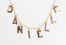 Eight Initial Alphabet Necklace