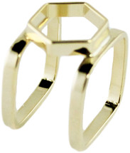 Beatrice Double Band Ring - Gold: Seen on A Style Pixie & American Idol!