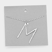 Today Show Hammered Initial Necklace SILVER: NEW COLOR! Limited Quantities!!!