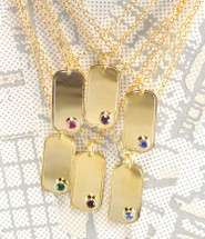 "Birthstone Necklaces - 1"" charm - As seen on Fashionlaine!"