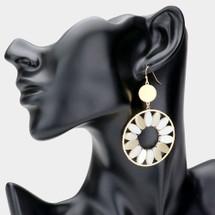 Fleur Earrings: Natural