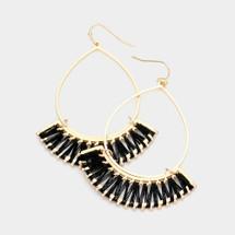 Wire Thread Earrings - Black