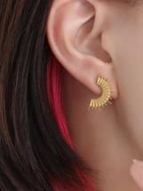 Rising Sun earrings: Gold Or Silver