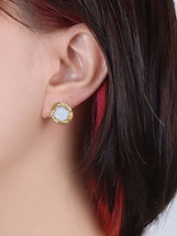 Mother Of Pearl Textured Studs