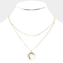 Sun Layered Necklace: Gold Or Silver