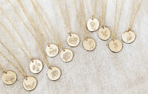 Flower Of The Month Coin Necklace - NEW! Add to Cart