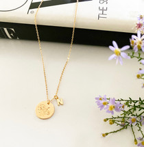 Flower Of The Month Initial Necklace - NEW! Add To Cart