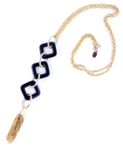 Daria Long Triple Necklace - More Colors - As seen on Blogger FashionLaine!