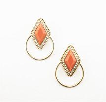 Delano Hoop Earrings- more colors: Seen in Real Simple!