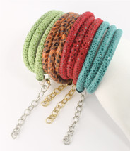 Gwen Python Leather Wrap Bracelet -more colors