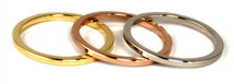 Skinny Rings - Tri-Color Set of 3: As seen on Poor Little It Girl & in Latina!!