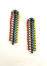 Aventine Skinny Long Earring -Tribal Colors