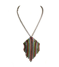 Jeweled Aventine Statement Necklace - Tribal Colors