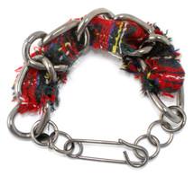 Cecilia Tweed Bracelet: Black/Red ONLY!