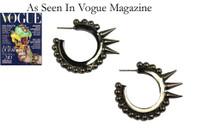 Spiked Cavalry Hoops: Seen on Maria Sharapova, Nicole Scherzinger & in Vogue!