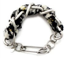 Cecilia Houndstooth Tweed Bracelet - more colors