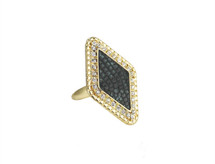 Deco Diamond Ring- more colors: Seen on Claire Holt of The Vampire Diaries & Pretty Little Liars!