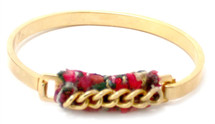 Georgina Chain ID Bangle - red or pink only