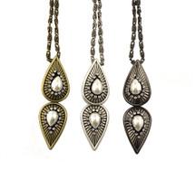 Gilda Double Pendant Necklace - As seen on American Idol's Erika Van Pelt!