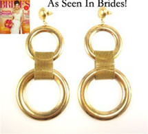 Medium Double Ring Earring: Seen in Brides & Latina Magazines!