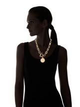 Rowena Mixed Metals Medallion Necklace - more colors