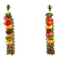 Stone Chain Back Earring - more colors