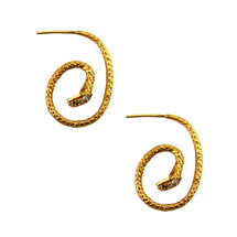 Snake Hoop Earrings - more colors