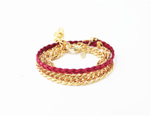 Selina Wrap Bracelet: RED