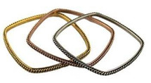 Chain Bangle Set - Square