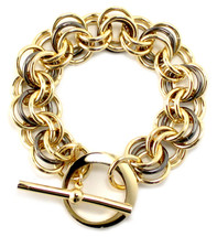 Thora Mixed Metals Bracelet - Gold/Gunmetal ONLY!